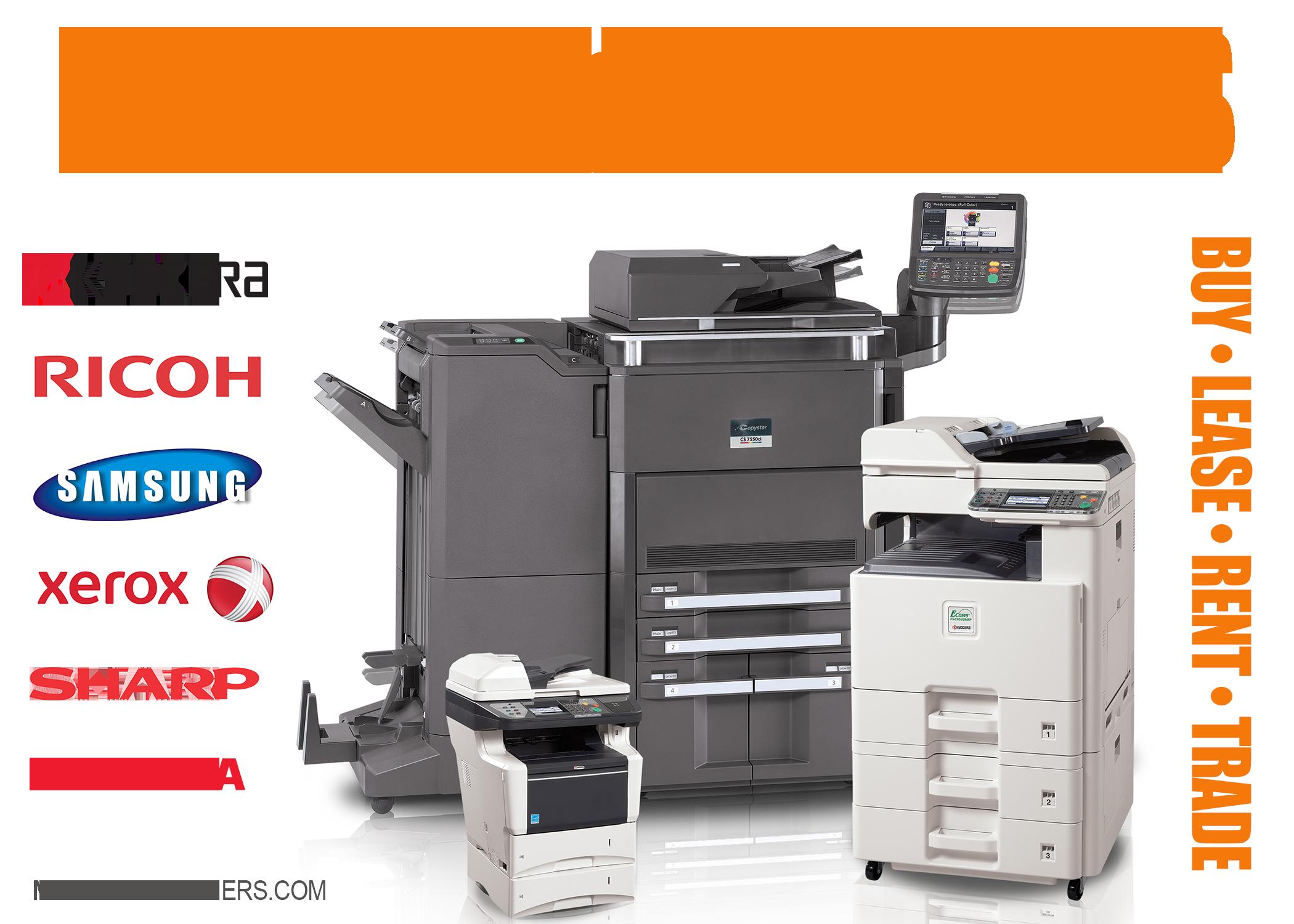 Copiers printers sales lease service